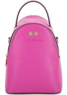 Сумка-рюкзак из сафьяновой кожи La Martina