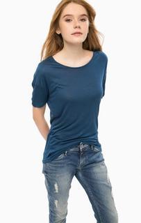 Синяя футболка из вискозы Alcott