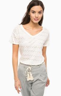 Льняная футболка с принтом Patrizia Pepe