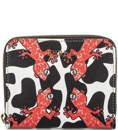 Кожаный кошелек с животным принтом Furla