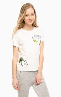 Хлопковая футболка с нашивками Juicy by Juicy Couture