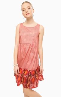 Платье средней длины с оборками по низу Think Chic