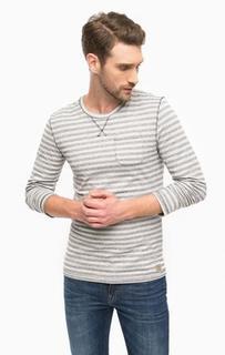 Хлопковая футболка в полоску с длинными рукавами Tom Tailor