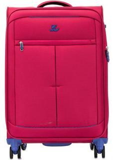 Текстильный чемодан цвета фуксии Verage