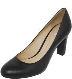 Черные классические туфли на каблуке Geox