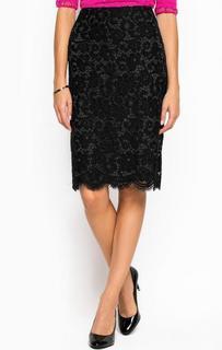 Черная юбка из полиамида и хлопка Juicy Couture