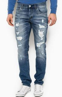 Зауженные рваные джинсы Bikkembergs