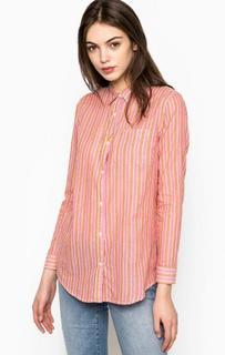 Рубашка в полоску с нагрудным карманом Maison Scotch