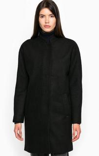 Пальто свободного кроя из полиэстера и шерсти Tom Tailor Denim