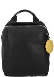 Черный кожаный рюкзак Mandarina Duck
