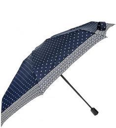 Маленький складной зонт в горошек Doppler