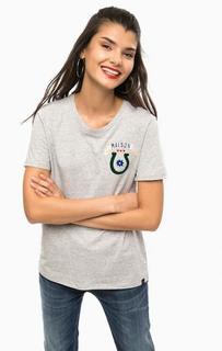 Серая футболка с круглым вырезом Scotch&Soda