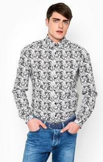 Приталенная рубашка из хлопка Drykorn