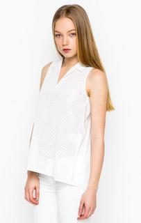 Белая блуза без рукавов Cinque