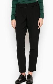 Зауженные черные брюки из полиэстера и вискозы More & More