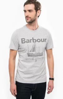 Серая хлопковая футболка Barbour