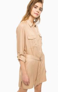 Бежевое платье-рубашка с карманами B.Young