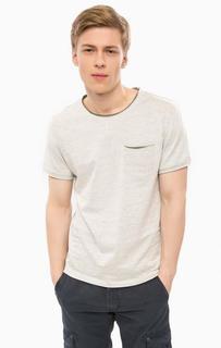 Серая хлопковая футболка с карманом Blend