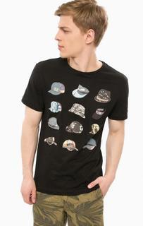 Черная футболка с ярким принтом Blend