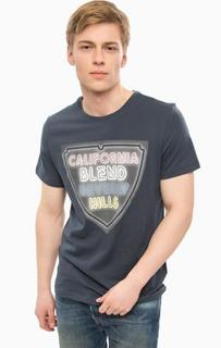 Синяя футболка с круглым вырезом Blend