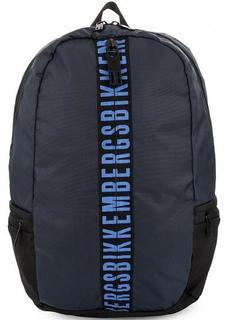 Вместительный текстильный рюкзак с широкими лямками Bikkembergs