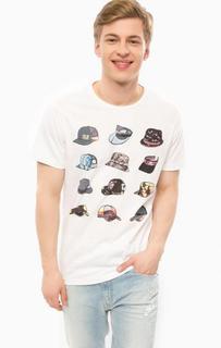 Белая футболка с ярким принтом Blend