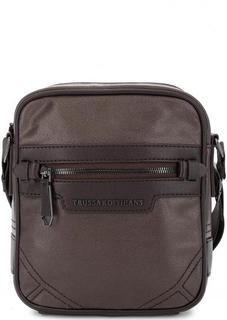 Маленькая коричневая сумка через плечо Trussardi Jeans