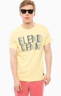Желтая футболка с короткими рукавами Blend