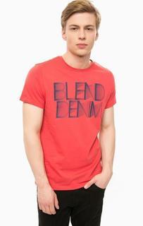 Красная футболка с короткими рукавами Blend