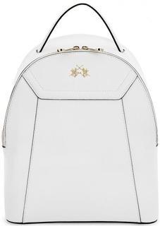 Рюкзак из сафьяновой кожи с тонкими лямками La Martina