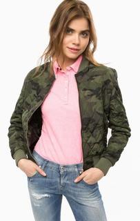 Куртка камуфляжного цвета на молнии Superdry
