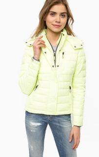 Куртка салатового цвета с капюшоном Superdry
