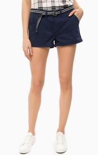 Короткие синие шорты Superdry