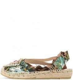 Хлопковые сандалии камуфляжной расцветки RAS