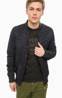 Легкая куртка-бомбер синего цвета Superdry