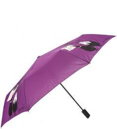 Автоматический зонт с куполом фиолетового цвета Flioraj