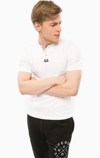 Белая хлопковая футболка с короткими рукавами Superdry