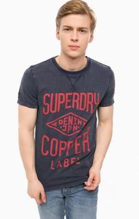 Хлопковая футболка с контрастным принтом Superdry