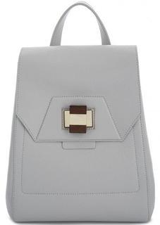 Серый рюкзак из натуральной кожи Gironacci