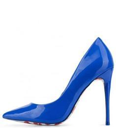 Синие туфли на шпильке с рисунком на подошве Aldo