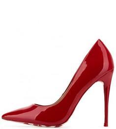 Красные туфли на шпильке с рисунком на подошве Aldo