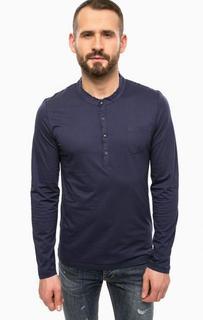 Синяя футболка с длинными рукавами Gaudi