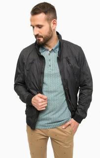 Синяя куртка на молнии с карманами Lerros