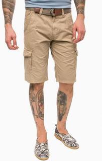 Коричневые шорты карго из хлопка Lerros
