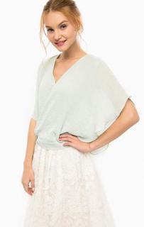 Блуза с запахом мятного цвета Darling