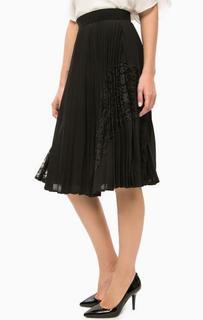 Плиссированная юбка с кружевными вставками Darling
