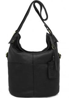Черная сумка-рюкзак на молнии Gianni Conti