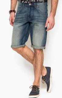 Джинсовые шорты с заломами Wrangler