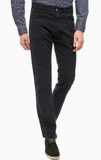 Прямые брюки из хлопка синего цвета Armani Jeans