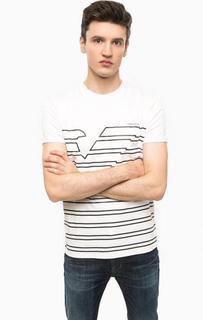 Хлопковая футболка в полоску Armani Jeans